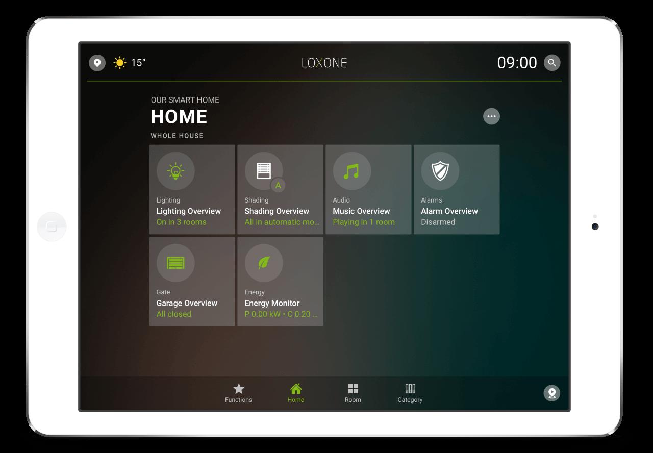 Loxone-App-HomeTab