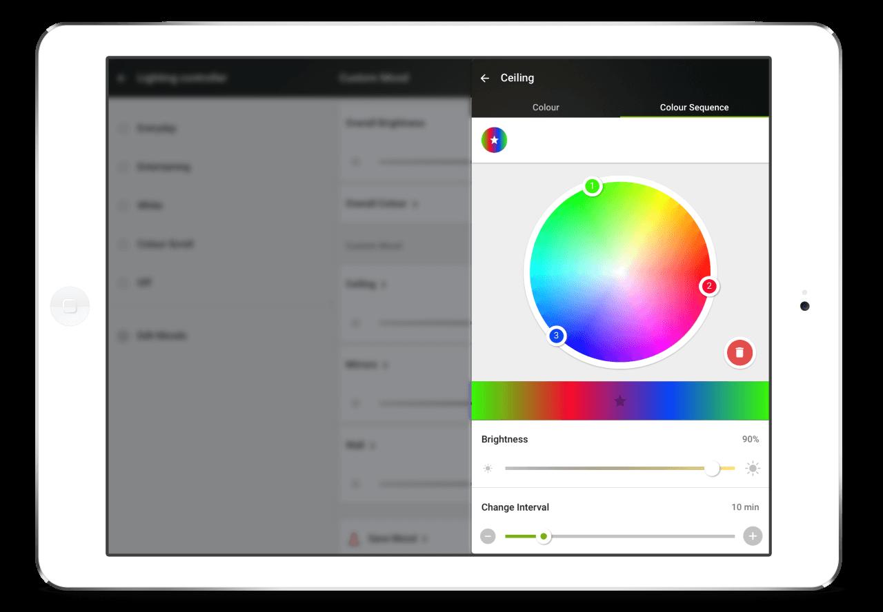 Loxone-App-RGBW-Farbwechsel