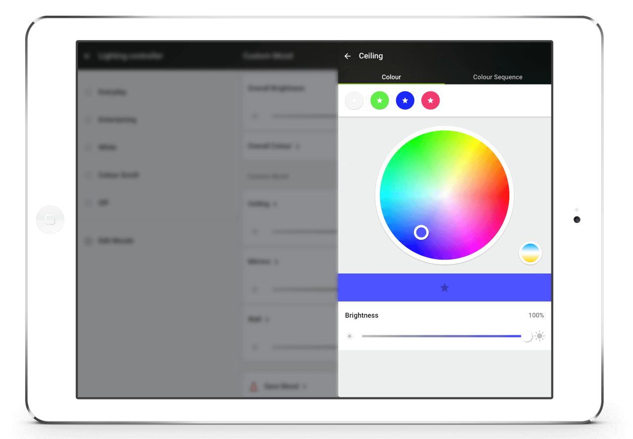 Loxone-App-RGBW-Licht