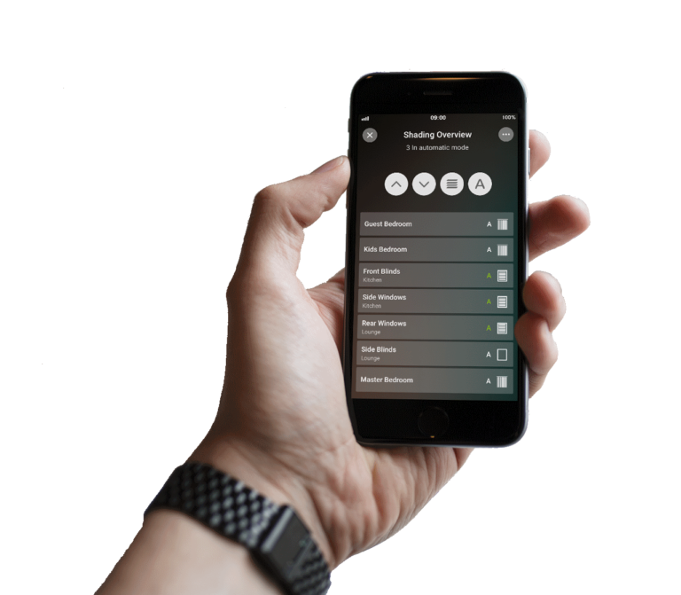 Loxone Smart Home App - Beschattung