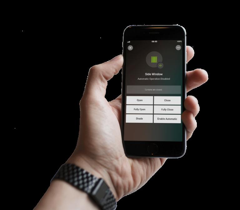 Loxone Smart Home App - Beschattung Vorhänge