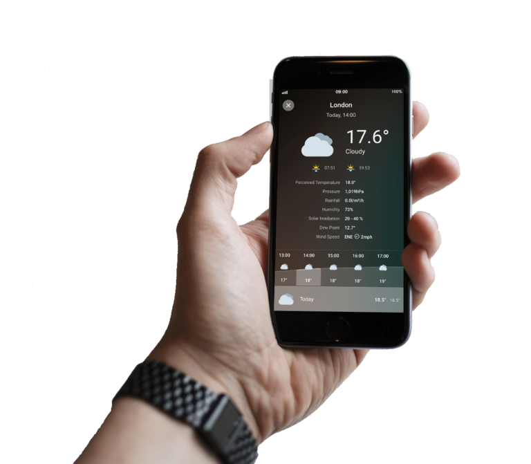 Loxone Smart Home App - Wettervorhersage