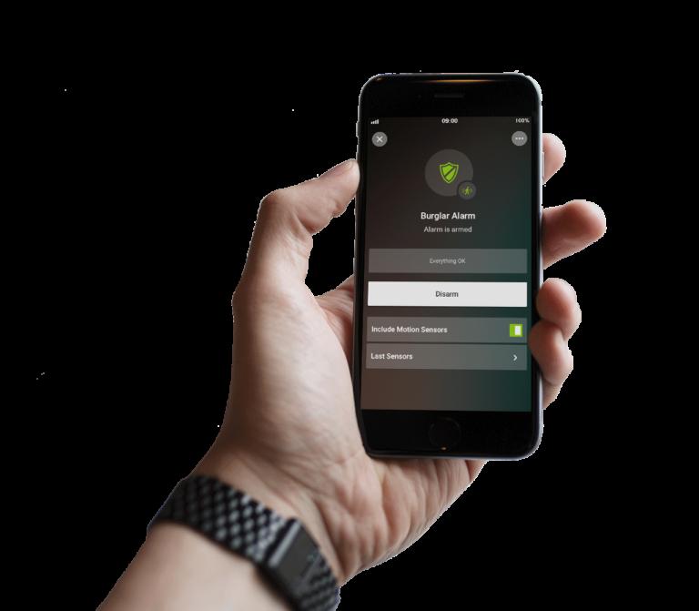 Loxone Smart Home App - freigestelltalarm