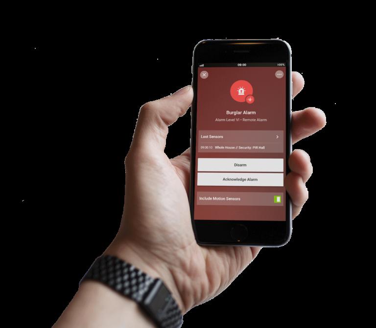 Loxone Smart Home App - freigestelltalarm2